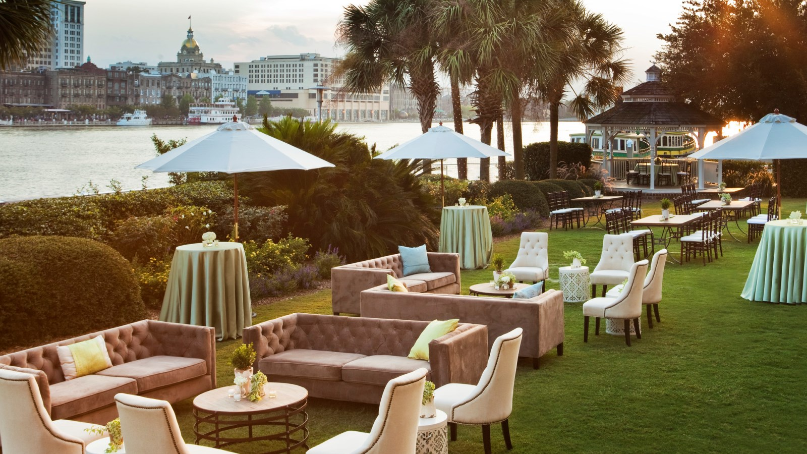 Savannah, GA Wedding Venues - Harbor Lawn