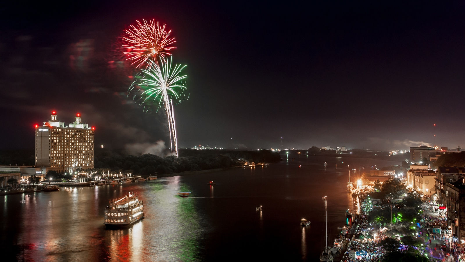 Savannah River Fireworks