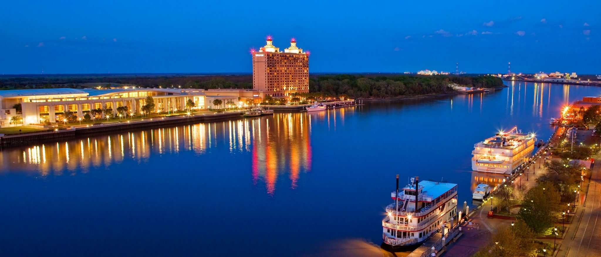 The Westin Savannah Harbor Golf Resort & Spa - Resort from Savannah River